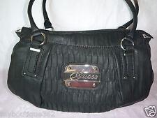 GUESS ABILENE black tote shoppers handbag purse new nwt