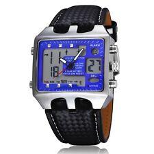 Sport OHSEN Bleu aiguilles digital Quartz Homme Cuir 70555473Bracelet Montre K62