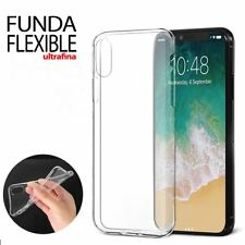 Funda transparente flexible para iPhone X 10 ANIVERSARIO ultra fina translucida