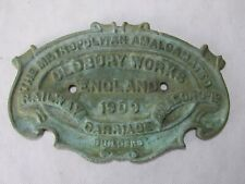 VINTAGE OLDBURY WORKS RAILWAY CARRIAGE WAGON ENGLAND 1909 BRONZE PLAQUE REPLICA