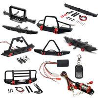Alloy Front Rear Bumper Winch Remote Control For RC TRAXXAS TRX-4 SCX10 II 90046