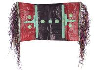 Tuareg Leather Saddle Cushion Fringed Mali African Art