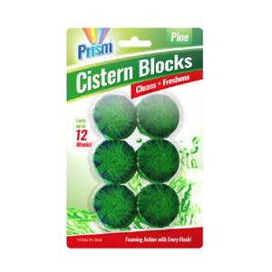 36 x 50g GREEN IN CISTERN TOILET LOO CLEANER FRESHENER FOAMING BLOCKS - PINE