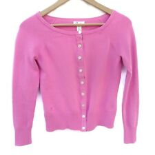 Lilly Pulitzer Women's Pink Cardigan Button Down Long Sleeve Sweater, XS