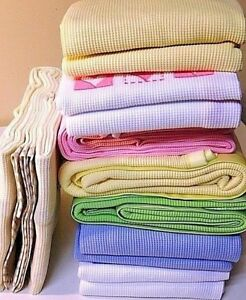 New Embroidered Cotton Waffle Blanket - Available in Different Colors/Designs