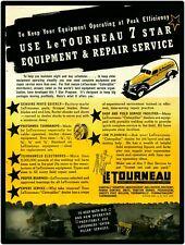 1940 Le Tourneau Equipment New Metal Sign: Le Tourneau 7 Star Repair Service