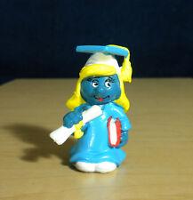 Smurfette Graduation Vintage Smurf Figure PVC Toy Smurfs Graduate Figurine 20151