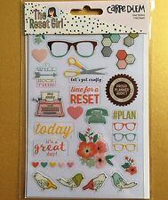 Simple Stories RESET GIRL Clear Planner Transparent Stickers - Carpe Diem