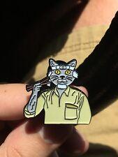 Mr. Meowgi - Karate Kid Festival Hat Pin, Lapel Pin Mashup
