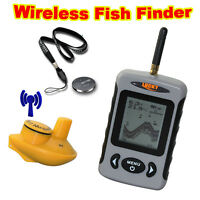 Lucky FFW718 100m Portable Wireless Sonar Fish Finder Alarm 0.7-40m Depth Sonar