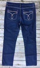 CALVIN KLEIN Jeans Womens 12 Dark Denim Skinny Fit Stretch Signature Pockets