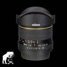Dörr Fisheye Lens 8mm 1:3,5 for Sony Alpha A300 A39 A37 A55 A57 A58 A65