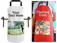 Personalised Chefs Kitchen Apron with Photo Pocket and Text by HappySnapGifts®