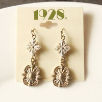New 1928 Floral Drop Dangle Earrings Gift Fashion Women Party Holiday Jewelry