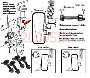 Camber Bolts fits Nissan Axxess Maxima Pulsar Quest Front Set Adj Kit  1.75 -/+