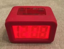 Pottery Barn kids digital  Alarm Clock Red W/Snooze/Light Excellent Cond.
