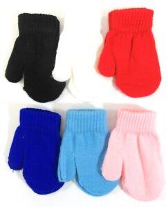 Baby Infants Childrens Boys Girls Mittens Gloves Mits One Size Winter 0-24 M 17
