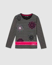 T-shirts noirs Desigual pour fille de 2 à 16 ans