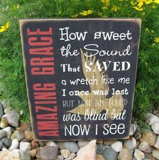 AMAZING GRACE Wall SIGN*Primitive French Country Farmhouse Christian Decor*New