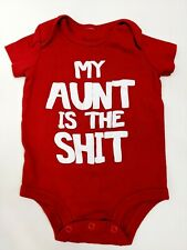 Spencer's Baby  Size 6 Months One Piece Bodysuit My Aunt Is The Sh*t Red Onzie