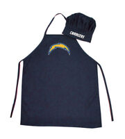 NFL Los Angeles Chargers Barbecue Tailgating Apron and Chef's Hat