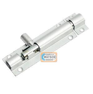 """BARREL BOLT Aluminium 2"""" 2.1/2"""" 3"""" 4"""" 6"""" Toilet Cupboard Sliding Shoot Door Lock"""