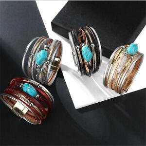 Wrap Bracelet Women's Jewelry Leather Bracelet Party Handmade Multi-layer