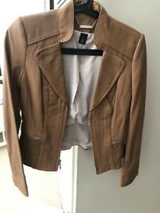 Brand New white house black market Leather Jacket Size Xs