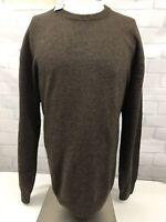 NEW JoS.A.BANK Men's Lambs Wool Blend Brown Crewneck Sweater Size XXL 2XL