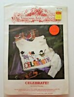 Celebrate Cross Stitch Kit For Adult Sweatshirt The Vanessa-Ann Collection NOS