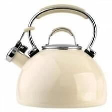 Prestige 2l Whistling Kettle Porcelain Enamel Almond