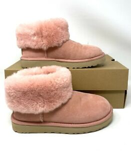 UGG  Classic Mini Fluff Pink Women_s Boot Suede Fur 1106757