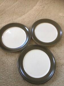Denby Chevron/Camelot Tea Plates X3