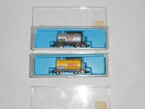 Atlas/Rivarossi N Scale 2471 2472 Esso & Shell tankers. In good condition. Boxed