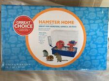 New Grreat Choice Hamster Gerbil Starter Kit Cage ShelfTunnel Wheel Water Bottle