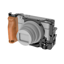 Aluminum Alloy Camera Hard Shell Case Cover Wood Handle For Sony RX100 VI/VII
