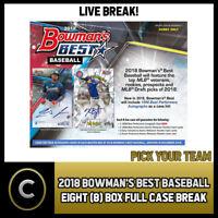 2018 BOWMAN'S BEST BASEBALL 8 BOX (FULL CASE) BREAK #A083 - PICK YOUR TEAM