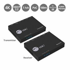 SIIG 4K HDMI HDBaseT Extender Over Single Cat5e/6 with RS-232, IR & PoC - 100m (