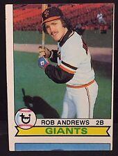 ROB ANDREWS 1979 Topps Baseball ERROR Miscut PARTIAL Card on Bottom SP OddBaLL
