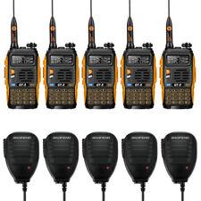 5x Baofeng GT-3 MKII V/UHF 136-174/400-520MHz Ham Two-way Radio HT + 5xSpeaker