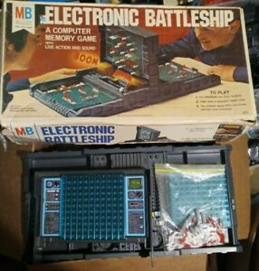 Vintage 1977 Electronic Battleship Milton Bradley Board Game ORIGINAL BOX