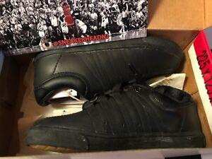 Vintage K-Swiss Classic Low Black Infant Shoes 20144 Size 4.5 6 9.5
