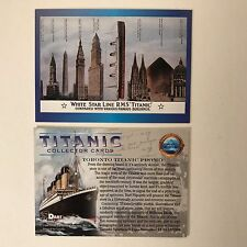 PROMO CARD: TITANIC COLLECTOR CARDS Dart 1998 SHOW PROMO from TORONTO SPECIAL