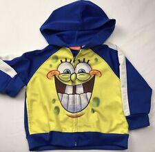 Spongebob Squarepants Vintage Jacket Zippered Lightweight Coat Sz 24 Mos Unisex