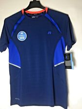 New RUSSELL Training Fit Men's Tee Shirt S 34/36 Dri-Power 360 Ventilation Blue
