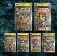 Infinity Gauntlet #1-6 SET. ALL CGC 9.8 SS!!! (Starlin, Perez, Lim, Rubinstein)