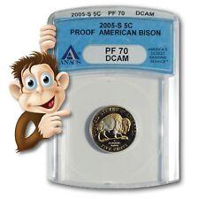 2005-S Jefferson American Bison Nickel - ANACS PR70DCAM - NO RESERVE
