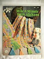 Annie's Attic Mile-A-Minute Baby Afghans Blankets Crochet Patterns Book Booklet
