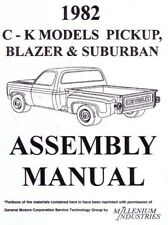 1982 Chevrolet Truck Blazer Suburban Assembly Manual Instructions Illustration