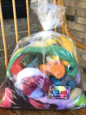 Spinning Felting Wool Roving Fiber -Mixed Top and Roving Bag 12 oz  Spin Fiber